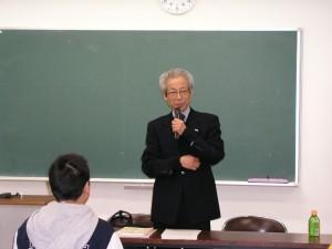 首藤傳明先生 特別講義