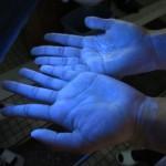 手を洗う前